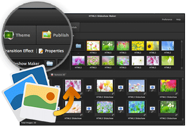 Create html5 photo slideshow