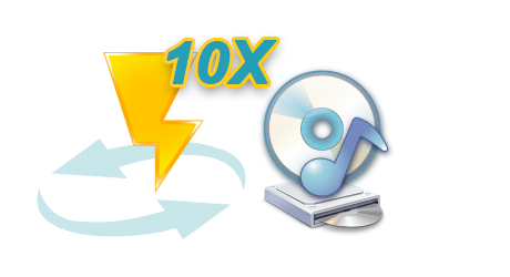 Convert at 10X Faster Speed & Keep CD Output Quality