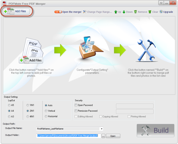 Import PDF files to PDF Merger