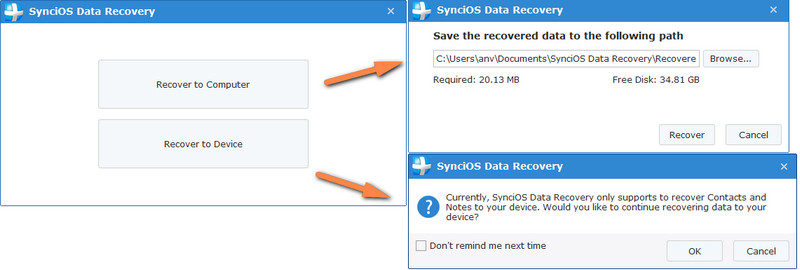 recover lost data to pc or device